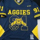 NC A&T AGGIES Blue short sleeve College Football Jersey North Carolina A&T 2X