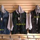 Dark Blue Denim Jean Jacket Denim Jean Hoody Hoodie Jacket Coat Jean Jacket M-2