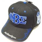 Mens Black Blue Phi Beta Sigma baseball Hat Cap Phi Beta Sigma adjustable Cap