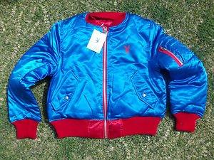 Women's blue red playboy Bunny Head Jacket Reversible Playboy Bunny Jacket M NWT