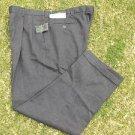 Alexander Julian Gray dress pants Gray Black Wool blend dress slacks 42WX30L
