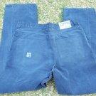 MEOSHE blue Corduroy pants mens blue Boot leg casual Corduroy pants 38WX32L