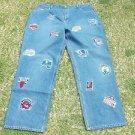 UNK NBA TEAM BLUE DENIM JEAN PANTS Mens Blue NBA denim jean pants  44WX34L NWT