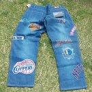 UNK 9 NBA TEAM BLUE DENIM JEAN PANTS Mens Blue NBA denim jean pants  42WX34L NWT
