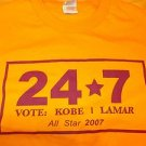 Los Angeles Laker's 2007 All-star Kobe Lamar T shirt Vingtage L.A. Laker T shirt