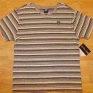 Gray white stripe V-neck shirt Enyce whit stripe short sleeve V neck shirt M-XL