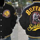 Buffalo Soldiers Wool Jacket M-5XL Buffalo Soldier black long sleeve wool coat