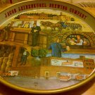 "JACOB LEINENKUGEL BREWING CO.125th Anniversary meatal tray plate 12"" DIA."