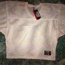 White short sleeve blank football jersey Bike White Polyester Football Shirt S/M