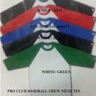 PRO CLUB White Green Long sleeve baseball T shirt  Baseball  shirt S-2X