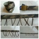 Olive Green cargo twill belt  Women's Camouflage cotton twill fashion belt S-L