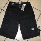 Mens black cargo shorts by PRO CLUB black cargo skater shorts W 30-64