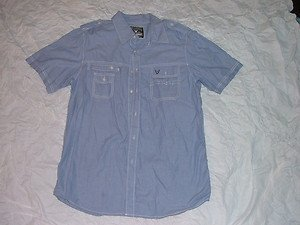 Blue short sleeve button up shirt by Company 81 short sleeve button up shirt XL