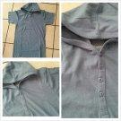 Blue hoodie Jacket  Men's short sleeve Blue short sleeve hoody shirt top M-2XL