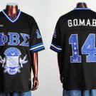 Phi Beta Sigma short sleeve football jersey L-5X Black
