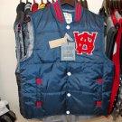 Blue Red sleeveless down vest Sleeveless outdoor Varsity style Vest M-2X