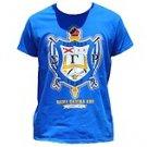 SIGMA GAMMA RHO Blue short sleeve T shirt Sigma Gamma Rho gold T shirt S-4X NWT