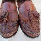 COLE HAAN BROWN LEATHER TASSELED LOAFERS Slip on dress shoe 10US   10 D / KR 10