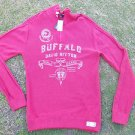 Buffalo David Bitton Red Long sleeve sweater Mens zip up pullover sweater XL NWT