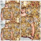 SUBLIMATION Tiger Cheetah Print short sleeve T shirt Animal Print T-Shirt M-2X