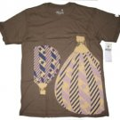 Mens blue brown  short sleeve T shirt  by HOT AIR M-2XL