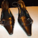 BCBG GIRLS DRESS SHOE WOMENS BLACK DRESS CASUAL HIGH HEEL PUMPS SHOE 7.5US/37.5E