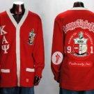 Kappa Alpha Psi Red Long Sleeve Cardigan sweater S-5XL