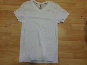 Starter White short sleeve V-Neck T shirt Men's soft cotton V neck T shirt 1PC S