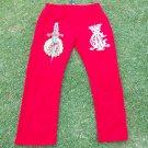 Christian Audigier Red jogging suite pants Men's jogging warm up sweat pants 3XL