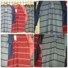 Red Gray Long sleeve baseball T shirt  Pin Stripe Crew neck BASEBALL TEE  S-2X
