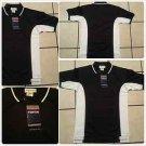 Black White polo shirt short sleeve cotton blend short sleeve polo shirt  S