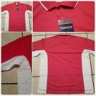 Red White polo shirt short sleeve cotton blend short sleeve polo shirt  S,4XL