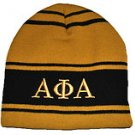 ALPHA PHI ALPHA BLACK GOLD SKULL CAP BEENIE CAP FRATERNITY BEENIE Beanie #2