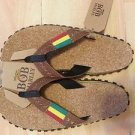 BRAND NEW BOB MARLEY FOOTWEAR MENS HEMP TAN/BROWN SANDAL FLIP FLOP PICK A SIZE
