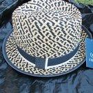 IZOD  Mens Women Unisex Straw Fedora Hat Straw Fedora Hat One size fits All