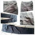 Womens gray black cotton pants Womens dress casual tweed design pants 8WX32L