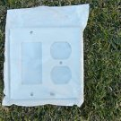 Leviton R42-80455-W White Decora Nylon Midway 2 toggle Wallplate switch plate NW