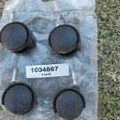LOT SET of 4 Black Plastic Office Chair Replacement Caster Wheel Swivel Rolling