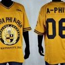 Alpha Phi Alpha short sleeve football jersey L-5X GOLD