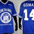 Phi Beta Sigma short sleeve football jersey L-5X BLUE