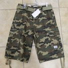Mens Camouflage cargo shorts by PRO CLUB green Camouflage cargo shorts W30-64