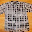 Sean John Light Blue short sleeve button up shirt Plaid print casual shirt 2X