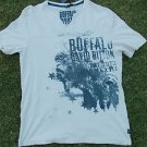 Buffalo David Bitton white SHORT SLEEVE V NECK T SHIRT Buffalo V NECK T SHIRT L