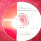 COMPAQ 5017 Flat Panel Monitor CD Software and Reference Guide start up CD Disk