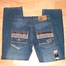 Mens blue denim jean pants by ENYCE W30X30L NWT