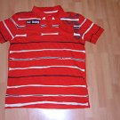 Mens red short sleeve polo shirt by ALL NAVY SZ:L NWOT Red stripe polo shirt