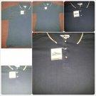 Mens Navy Blue polo shirt short sleeve cotton blend short sleeve polo shirt  XL