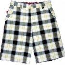 Mens yellow black plaid shorts by Superfly plaid walking golf shorts W30-40W