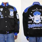 Phi Beta Sigma Black Racing Jacket Coat M-4XL NWT