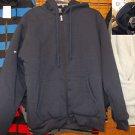 Heavy Weight Long Sleeve Cotton Wool Hoodie Hoody Jacket Navy Blue Hoodie S-3X